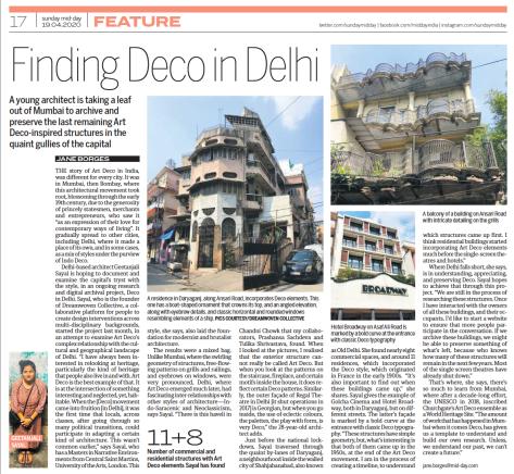 Deco in Delhi - Sunday Mid Day